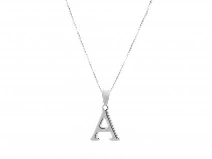 """Ocelový náhrdelník s písmenem """"A"""""""