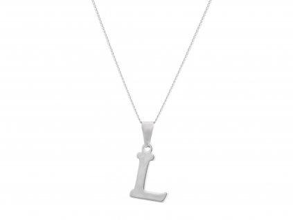 """Ocelový náhrdelník s písmenem """"L"""""""