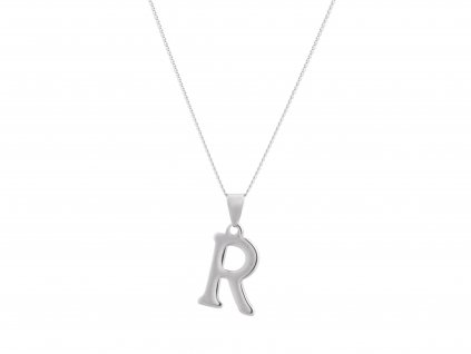 """Ocelový náhrdelník s písmenem """"R"""""""