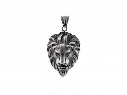 Ocelový přívěsek hlava lva