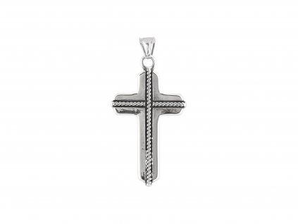 Ocelový přívěsek kříž