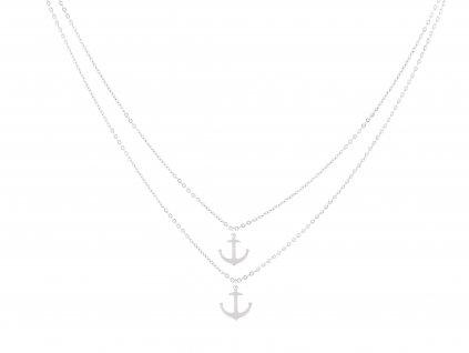 Dvojitý náhrdelník kotvy