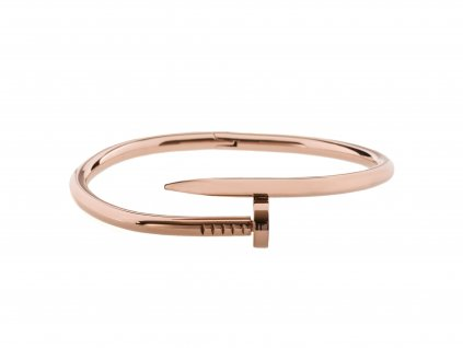 Ocelový náramek bangle NAIL rose gold