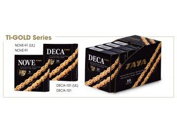 Řetěz Taya DECA-101 Ti-Gold