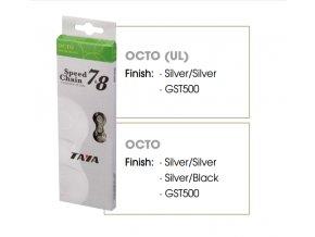 Řetěz Taya OCTO Silver/Black