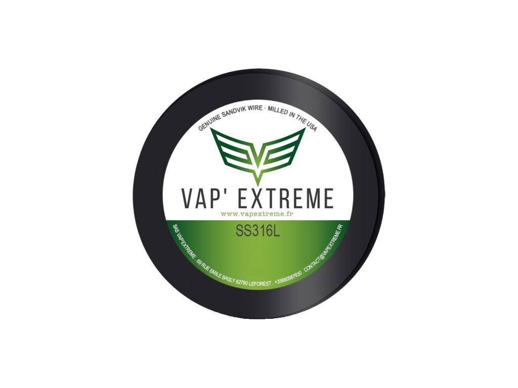 Vap Extreme - SS316L Nerezový odporový drát 9m 28GA 0,3mm