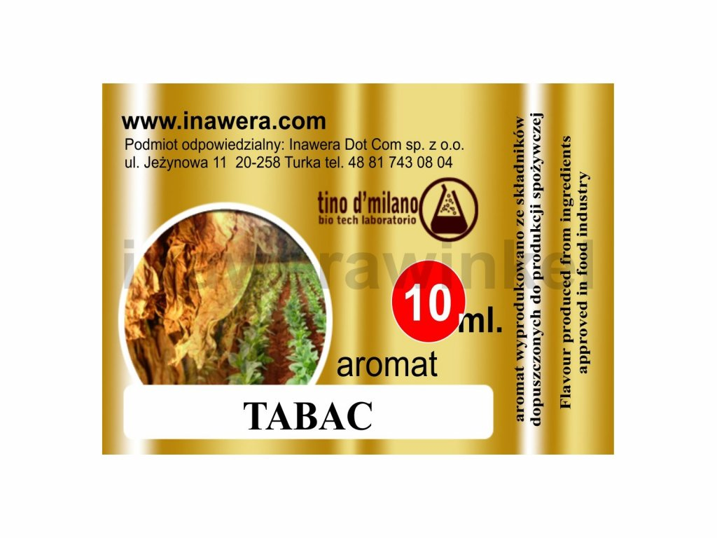 INW TABAC / Typ tabáku