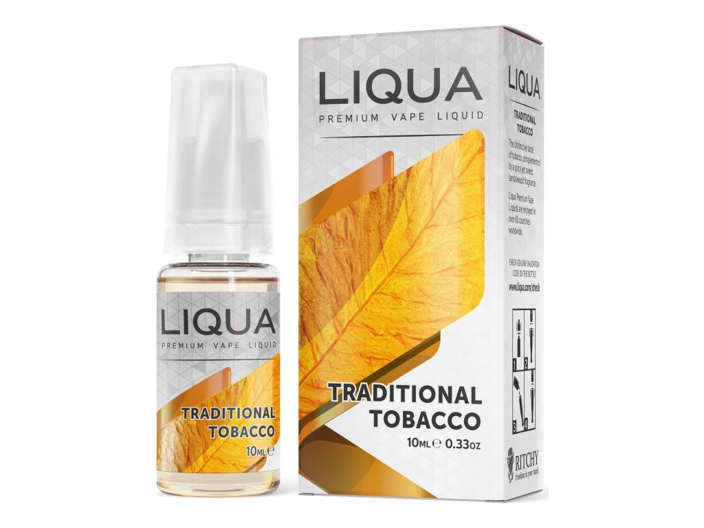 RITCHY e-liquid LIQUA Elements Traditional Tobacco 10ml - 0mg nikotinu/ml