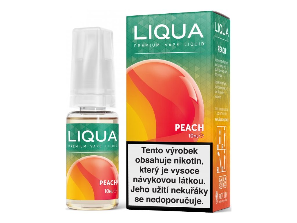 RITCHY e-liquid LIQUA Elements Peach 10ml - 18mg nikotinu/ml