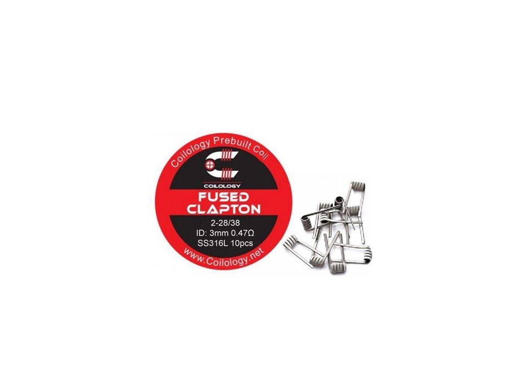 Předmotané spirálky Coilology Fused Clapton SS316L 0,47ohm - 10ks