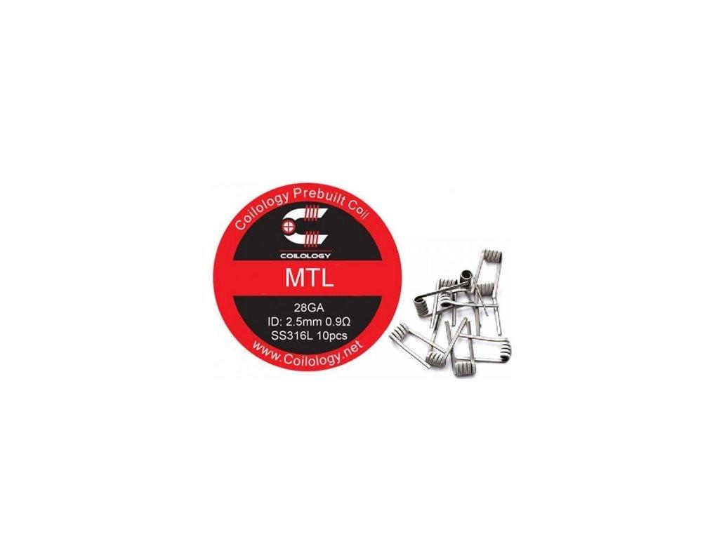 Předmotané spirálky Coilology MTL SS316L 0,9ohm - 10ks