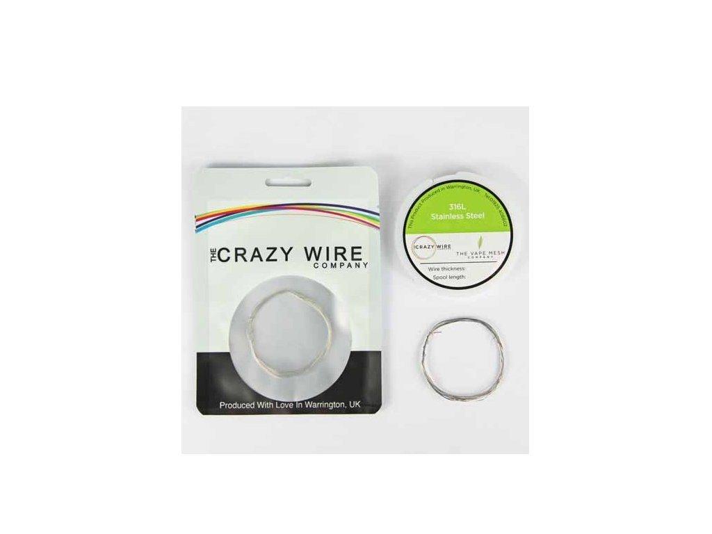 The Crazy Wire Company The Crazy Wire SS316L - Nerezový odporový drát 10m 39GA 0,1mm