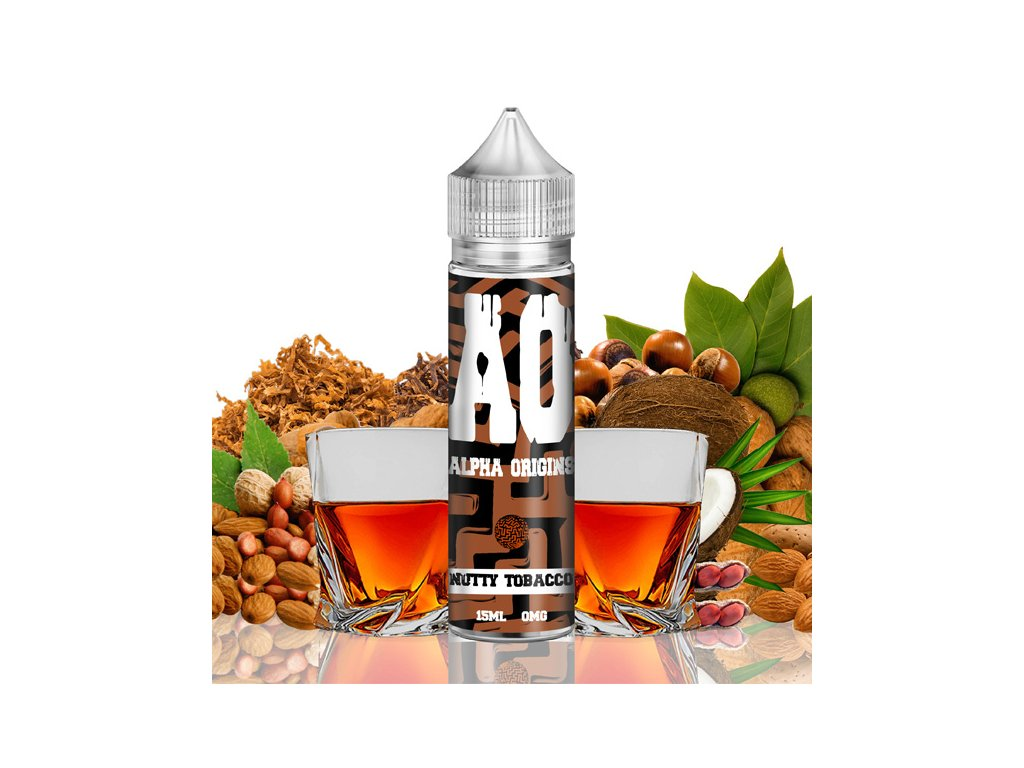 Příchuť Alpha Origins Shake and Vape Nutty Tobacco 15ml