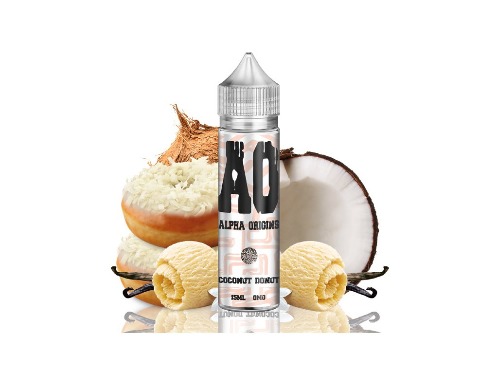 Příchuť Alpha Origins Shake and Vape Coconut Donut 15ml
