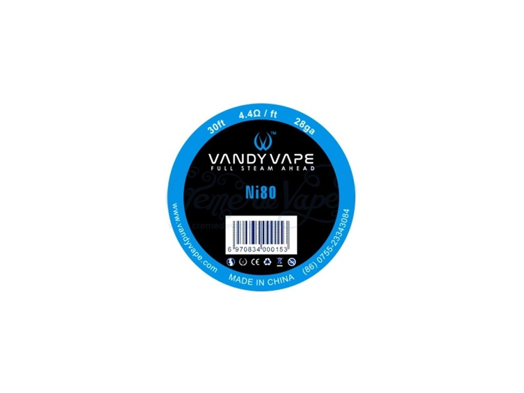 Vandy Vape - Ni80 nichromový odporový drát 9m 28GA 0,3mm