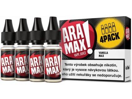 e-liquid ARAMAX Vanilla Max 4x10ml Obsah nikotinu: 6mg