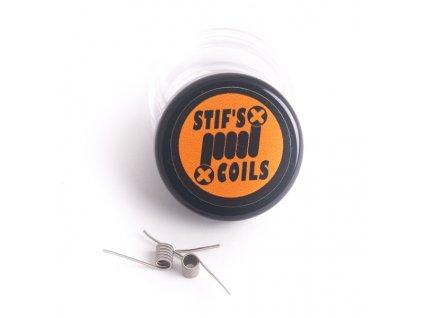 Stifs Coils Stifs MTL Micro Fused Clapton SS316L+ Ni80 0,54ohm předmotané spirálky