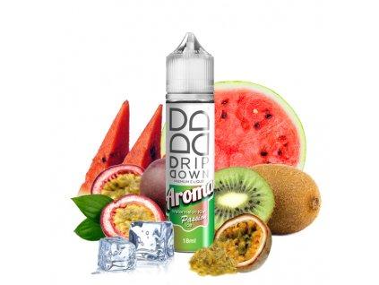 I VG Příchuť Drip Down Watermelon Kiwi Passion Ice SnV 18ml