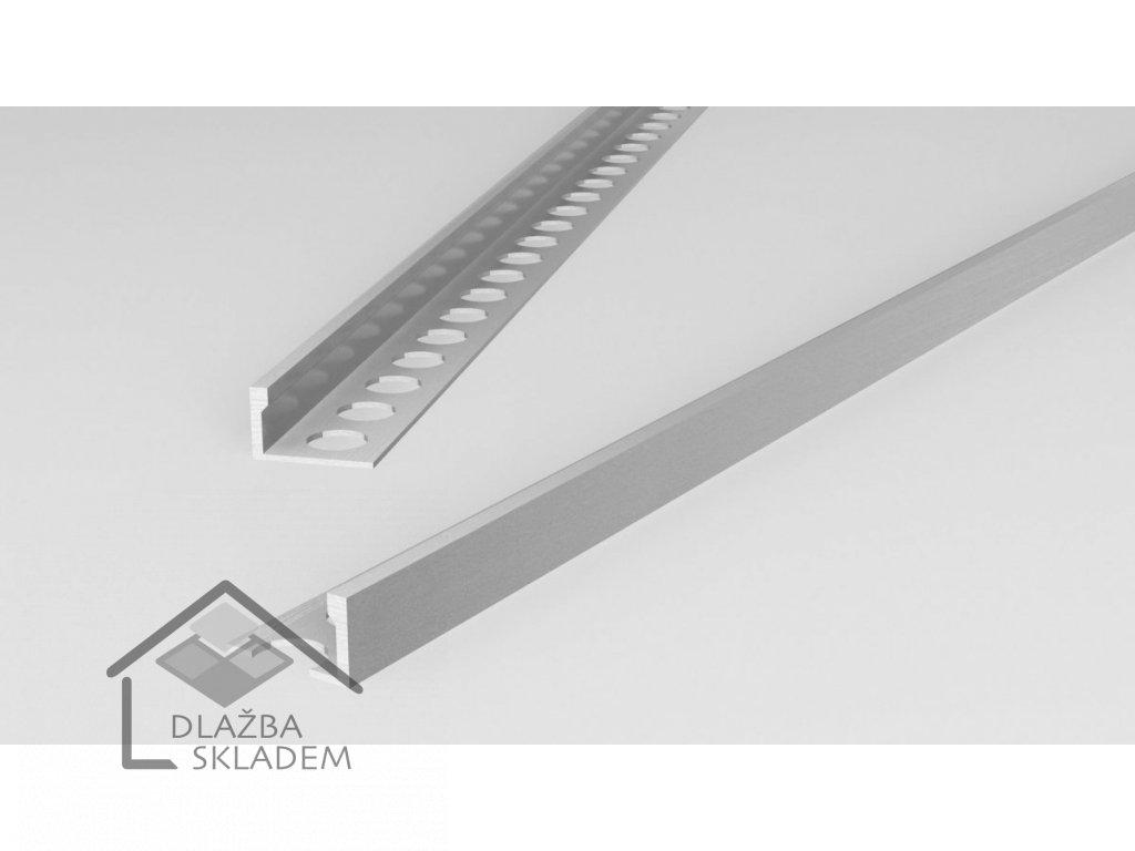 Ukončovací L lišta 8/250 PVC bílá - výprodej - osobní odběr na prodejně
