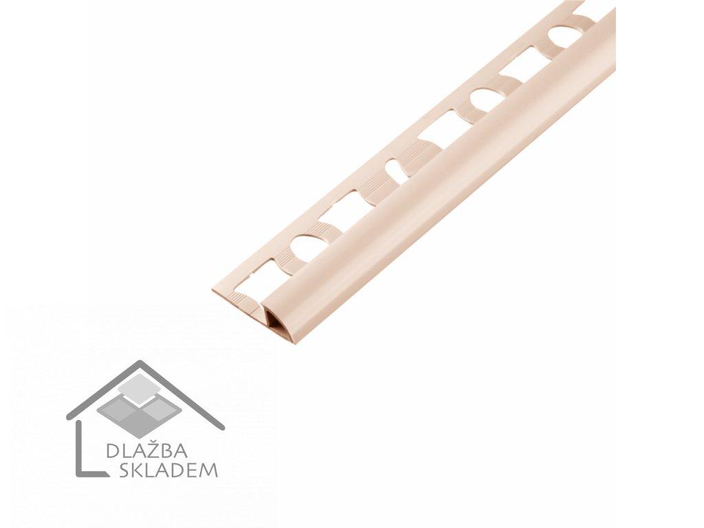 Ukončovací obloučková lišta 6/250 PVC bahama - výprodej - osobní odběr na prodejně