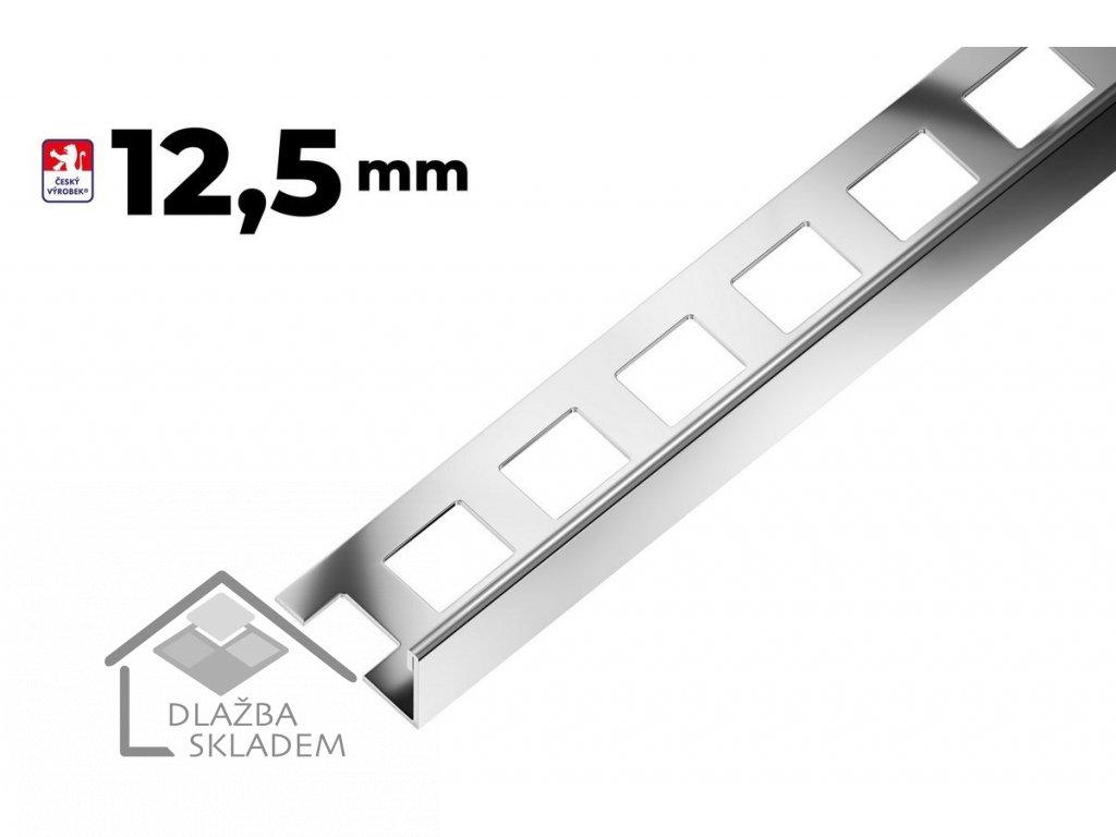 Ukončovací L lišta 12,5/250 nerez AAEL 125 - výprodej - osobní odběr na prodejně