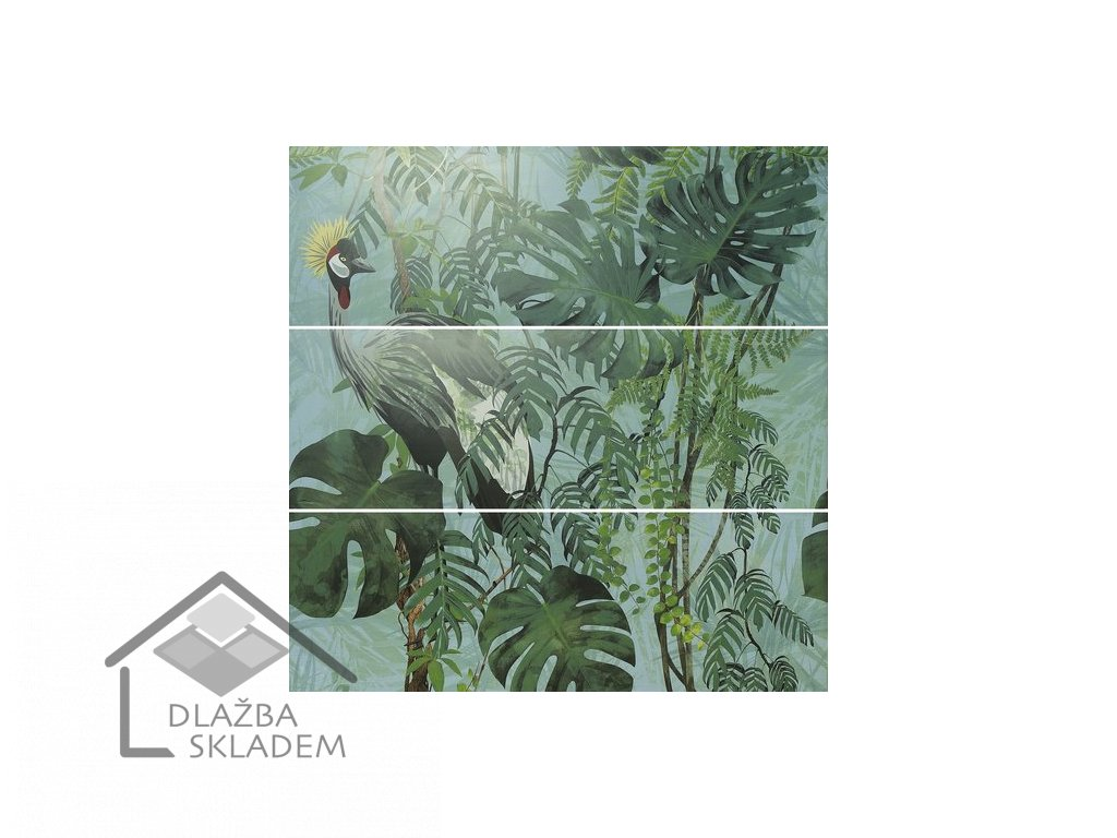 APE Silk Decor Set (3) ABC Virnia Turquoise 40x120 (sklad)