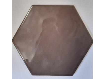 Deceram Hex Devon Dark Pardo 17,5x20,2