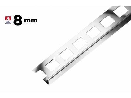 Ukončovací L lišta 8/250 hliník - výprodej - osobní odběr na prodejně