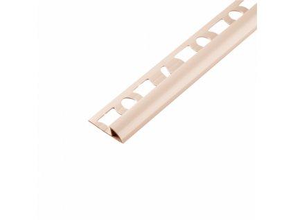 Ukončovací obloučková lišta 8/250 PVC bahama - výprodej - osobní odběr na prodejně