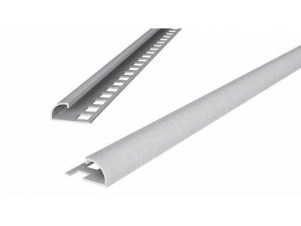 Ukončovací obloučková lišta 6/250 PVC bílá - výprodej - osobní odběr na prodejně