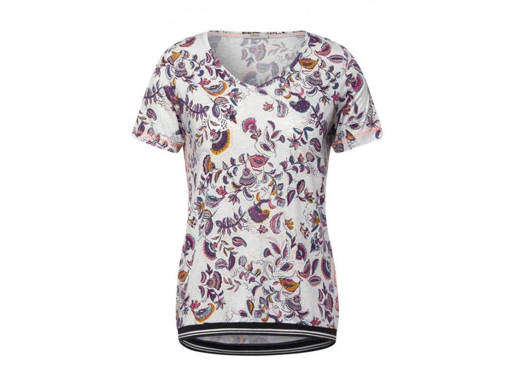 Cecil vzorované tričko ukončené do gumičky