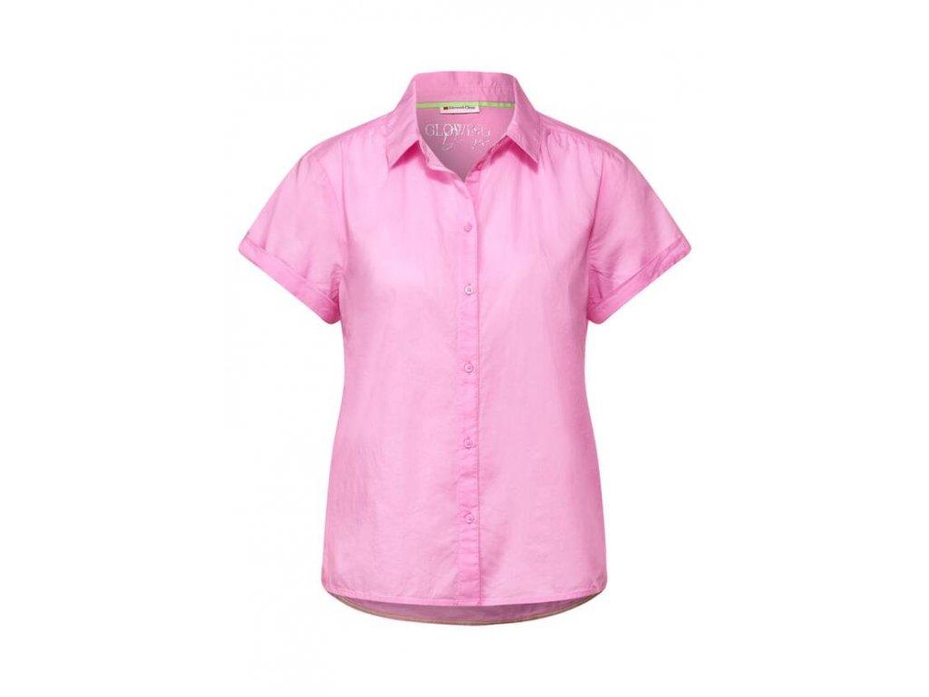 Street One růžová košile s krátkými rukávy