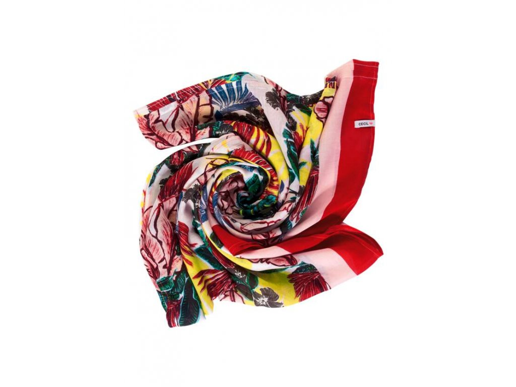 Cecil vzorovaný šátek červený