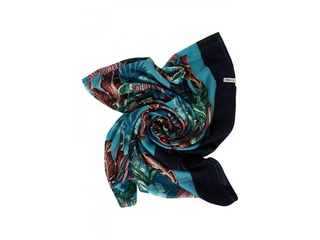 Cecil vzorovaný šátek modrý