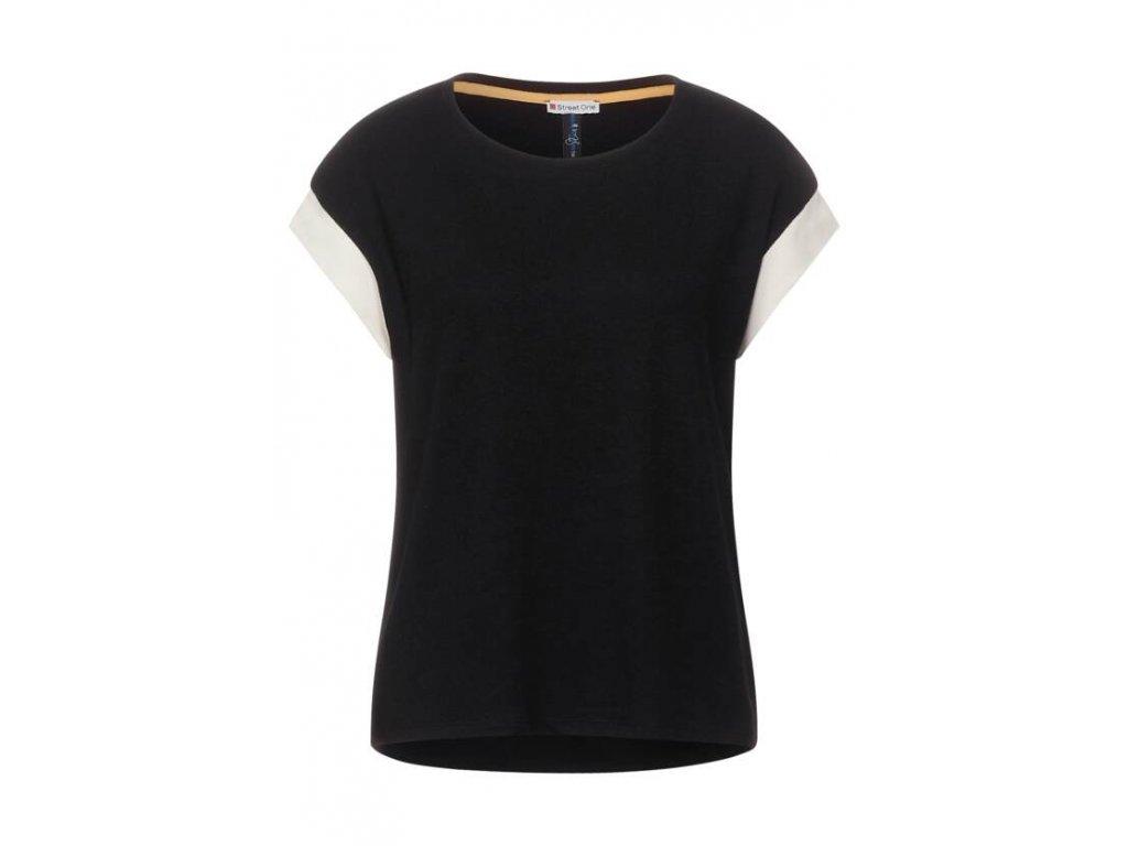 Street One úpletové černé triko