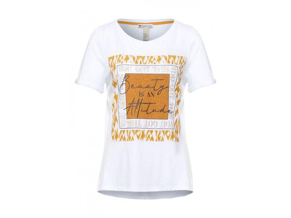 Street One bílé tričko s potiskem