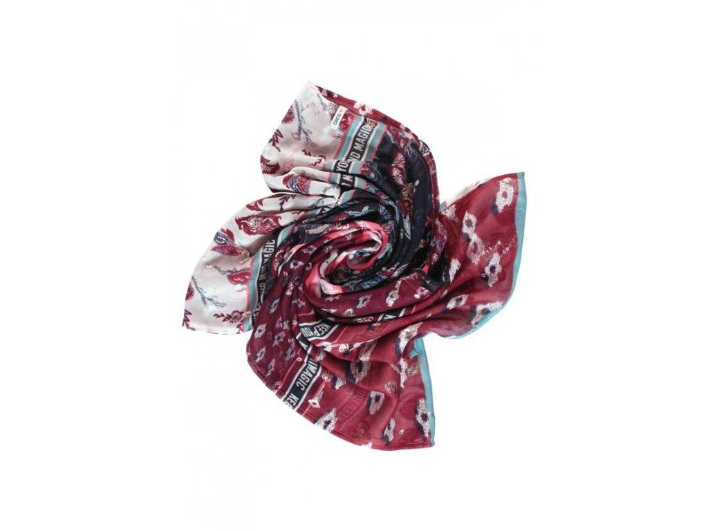 Cecil vínový šátek