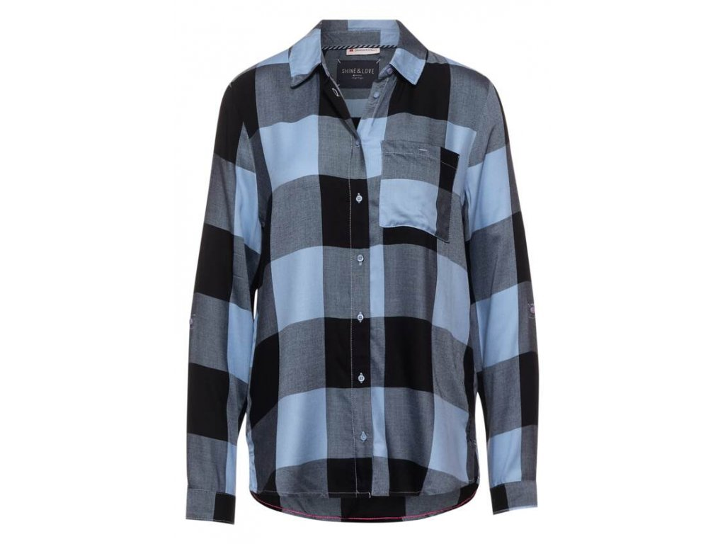 Street One kostkovaná modrá košile 342842