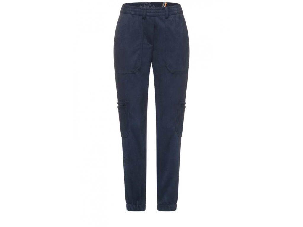 Cecil velourové kalhoty s kapsami 374455