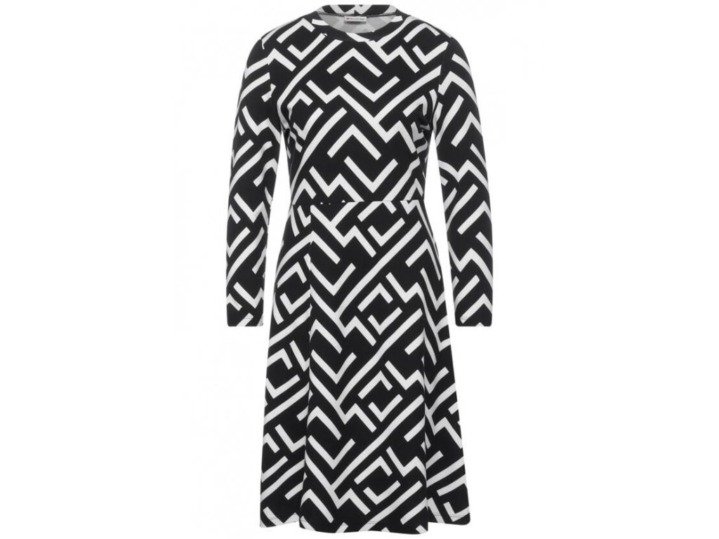 Street One černobílé šaty 143072