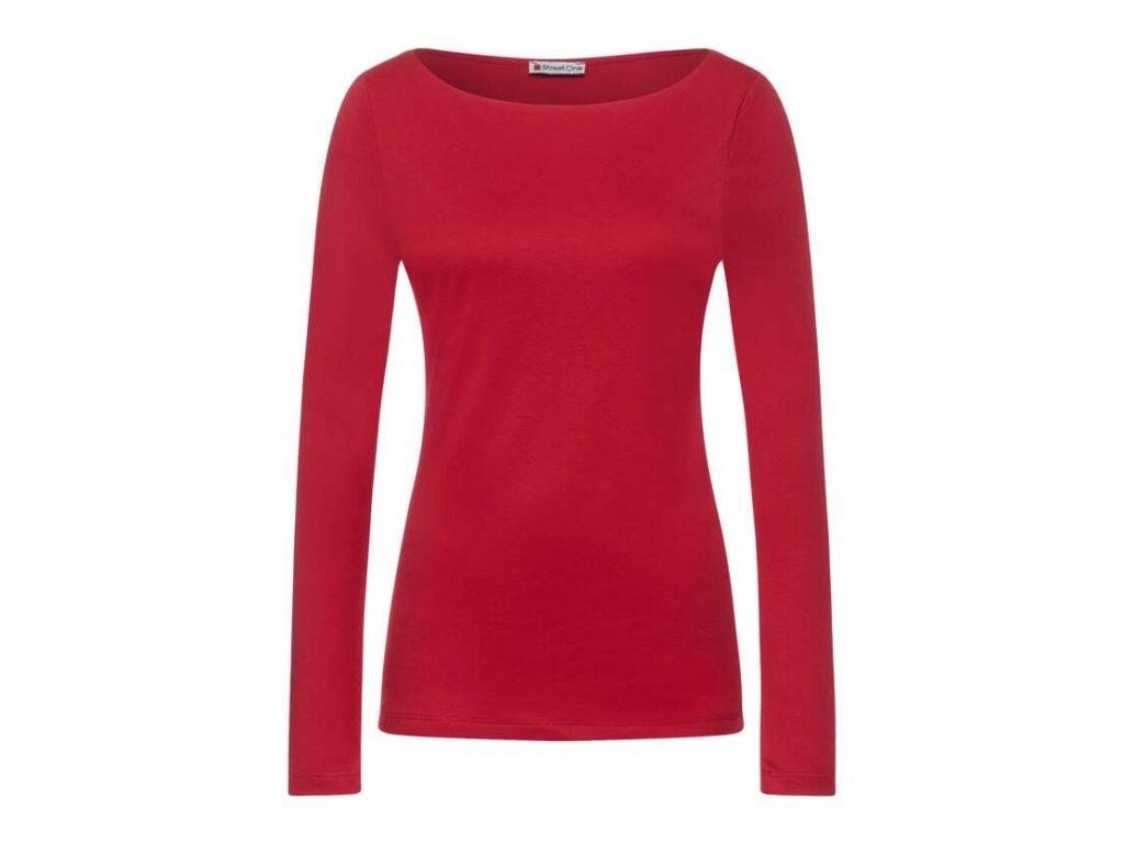 Street One červené triko s dlouhými rukávy Lanea 316885 13319