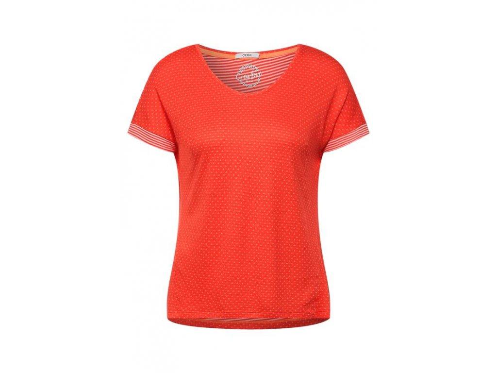 Cecil oranžovo červené triko