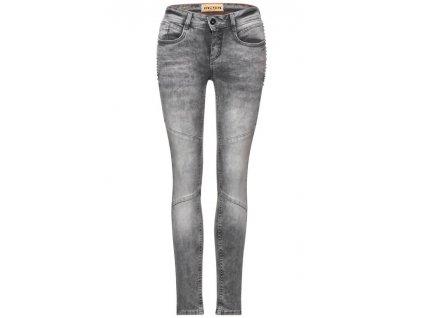 Street One šedé jeans se cvoky