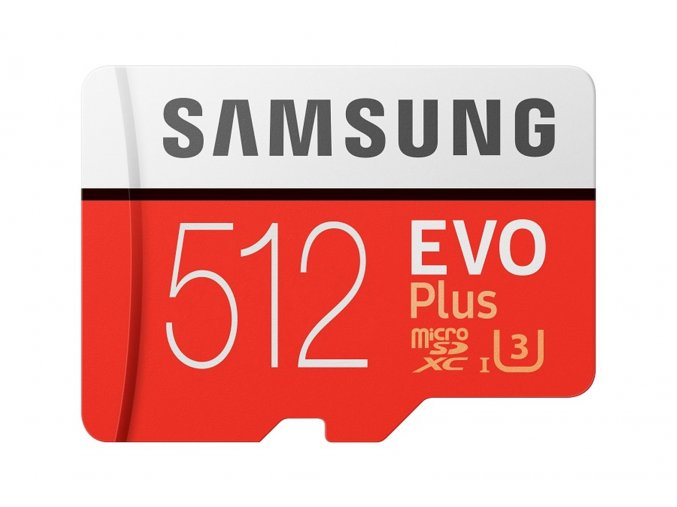 Micro SDXC 512GB Samsung EVO Plus + SD adaptér MB-MC512HA/EU