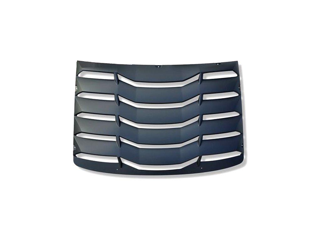 Rear Window Louvers - Matte Black (CAMARO 16-20 all)