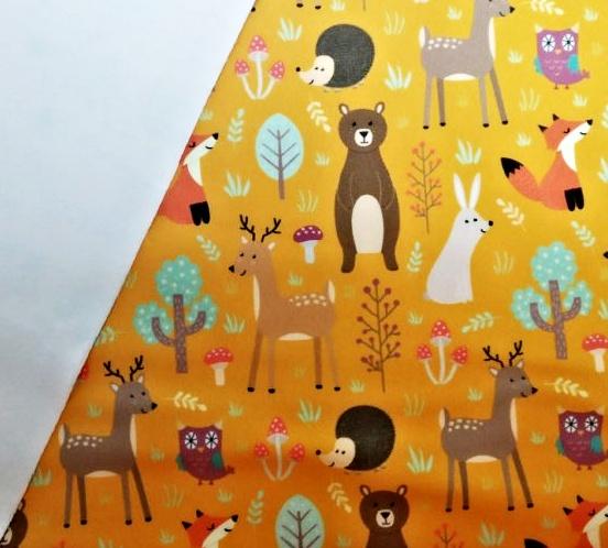 Softshell lesní zvířátka na hořčicové