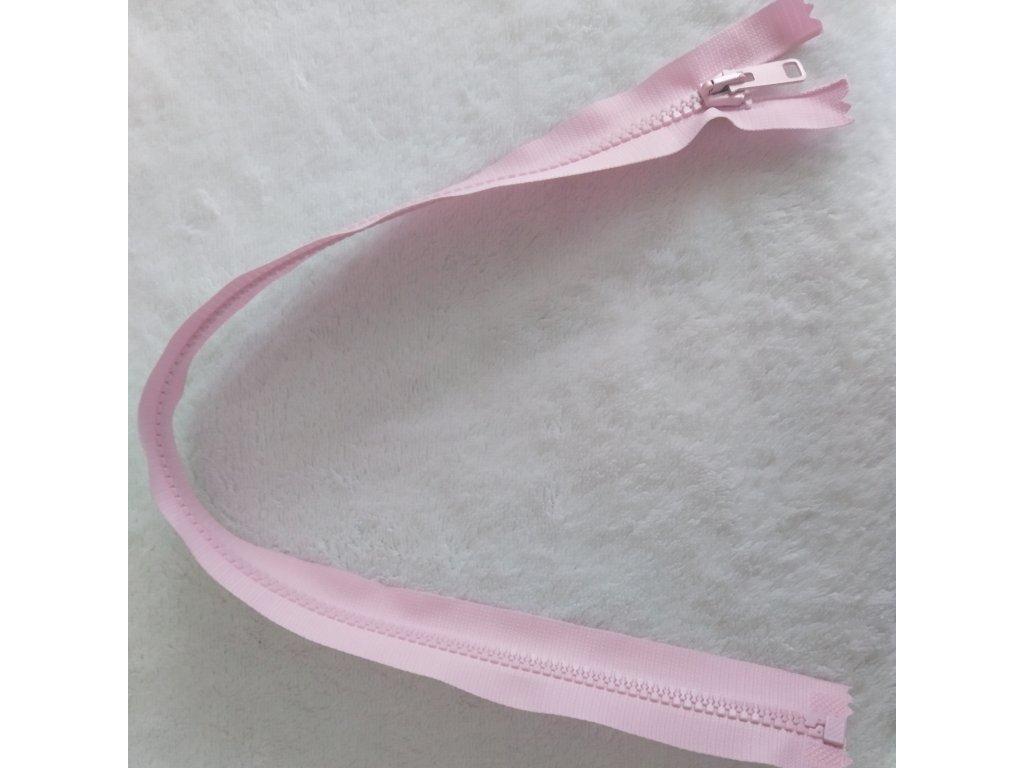 zip kostěný světle růžový plastový 45cm