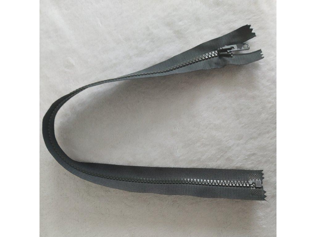zip kostěný tmavě šedý plastový 45cm