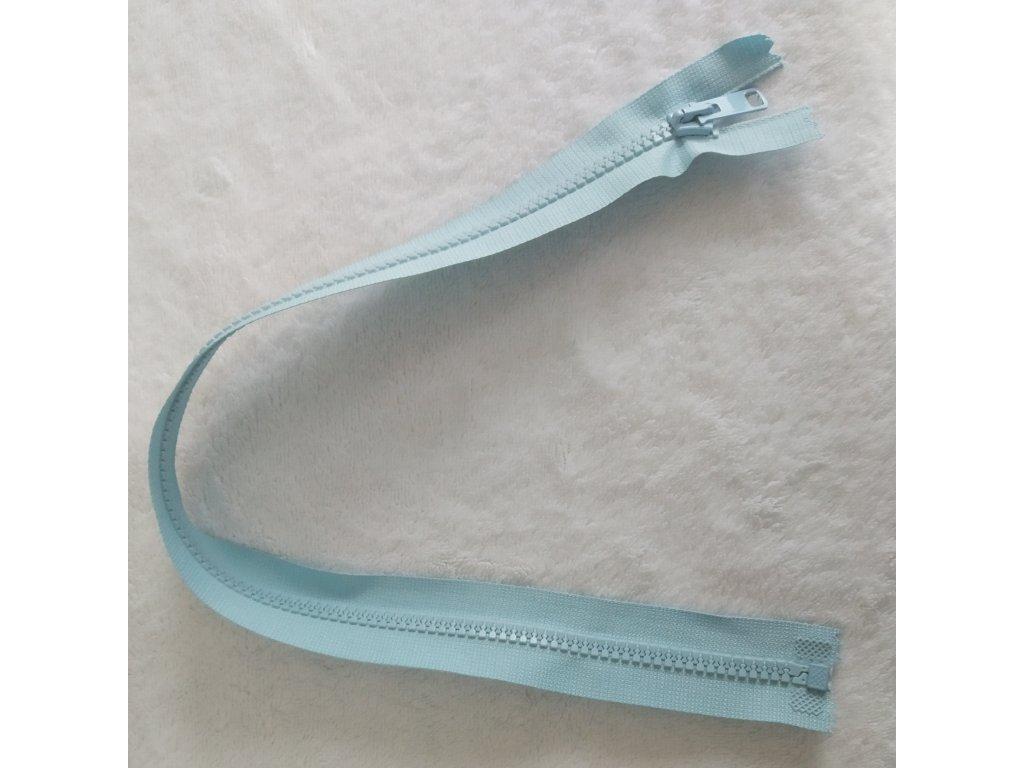 zip kostěný světle modrý plastový 45cm