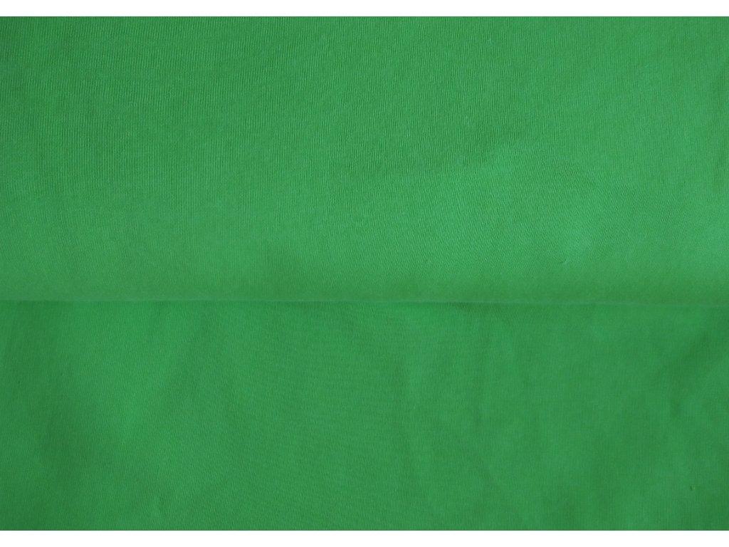 Teplákovina počesaná limetka 1,35 m zbytek